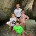 Kids loved walking through the caves that the rocks make