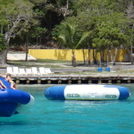 The Peter Island Beach Club has stuff to play on ... or, teaching kids about planetary mechanics.
