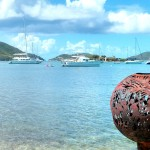 Visited a local artist on Trellis Bay, the day before he came by the boat with organic fruits