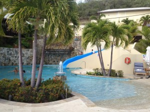 In keeping with the vacation theme, we spent 2 nights at the Scrub Island Resort ... 2 level pool with a slide ... very acceptable