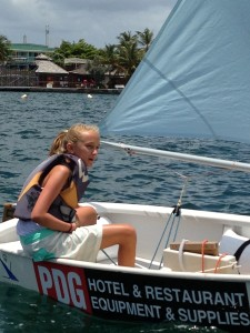 Kate tacking upwind