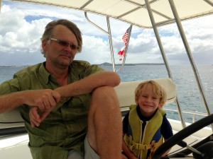 "While ""otto"" steers (autopilot), Jack and I keep an eye for pirates and other scurvy souls :)"