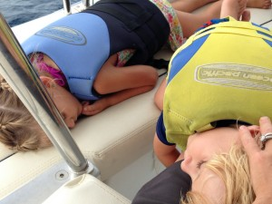 One of the best ways to enjoy the wind, water and sun ... nap time.