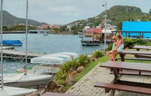 Waiting for lessons to start at the St. Maarten Yacht Club