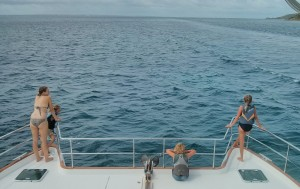 Making our way out of Marigot enroute to Ile Tintamarre