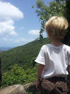 Jack at the top of St. Martin ... he and Anna did a hike, while the girls did zip lines.