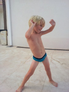 "Jack is extremely happy with his ""speedo"" ... he likes wearing it ... I think he is pulling it off."