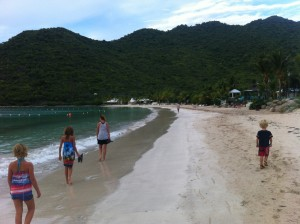 We had the entire beach at Anse Marcel to ourselves, 5 o'clock on a Sunday ... my favorite time to explore, always very quiet and relaxed.